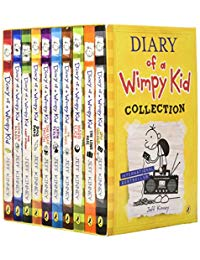 Jeff Kinney 10 Books Set Diary of a Wimpy Kid Collection Set