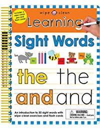Wipe Clean: Learning Sight Words: Includes a Wipe-Clean Pen and Flash Cards!