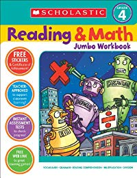 Scholastic Success with Reading and Math Jumbo Workbook: Grade 4