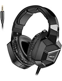 JEECOO J20 Stereo Gaming Headset Over Ear Headphones with Mic for PS4 Xbox One PC Laptop Mac Nintendo Switch Games